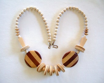 Tribal Boho Jewelry Long Necklace Casual Style Handmade Jewelry Wood Jewelry Vintage Fashion Gifts for Her Go Green Unique Gifts ON SALE