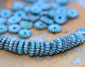 20 Mykonos Greek Small Bali Style Grover 5mm Beads - Greek Casting Beads