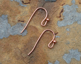 6 Copper Earwires -  Nunn Design LOW SHIPPING