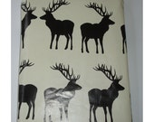 Black Reindeer Stag Antlers Mini iPad Mini Case Cover Pouch Sleeve Designer PVC Oilcloth Fabric Festive Accessories Antler Christmas Holiday