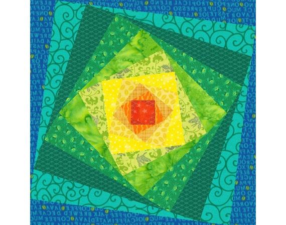 Mind s Eye quilt block paper pieced quilt by PieceByNumberQuilts