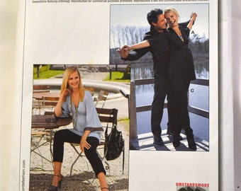 Sewing Pattern Burda 7763 Maternity Top and Pants Size 10-20 Bust 32 -43  inches Complete Uncut