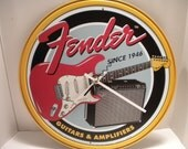 Fender Guitars Clock