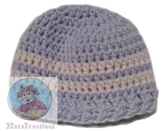 Newborn hat, kids hats, Striped crochet hats, Lilac and light pink stripped hats, Crochet baby hat, Crochet baby caps, Caps for hospital