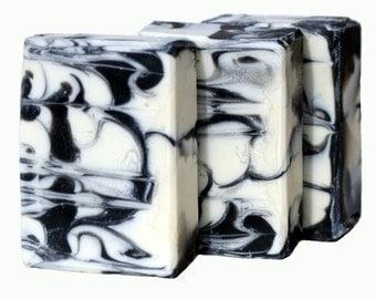 Anise Handmade Natural Soap Black White Swirls
