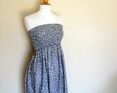 Strapless Shirred Top Sundress/Skirt