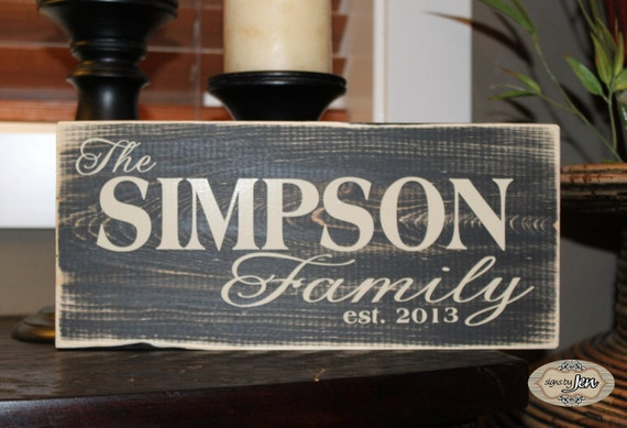 Personalized Family Name Established Date Wedding By
