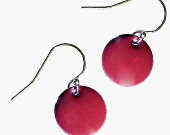 Enamel and Silver Earrings