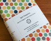 Organic Burp Cloth, Set of Two in MULTI-DOTTIES, Multi-Color Polka Dot Burp Cloths Gift Set of 2 by Organic Quilt Company
