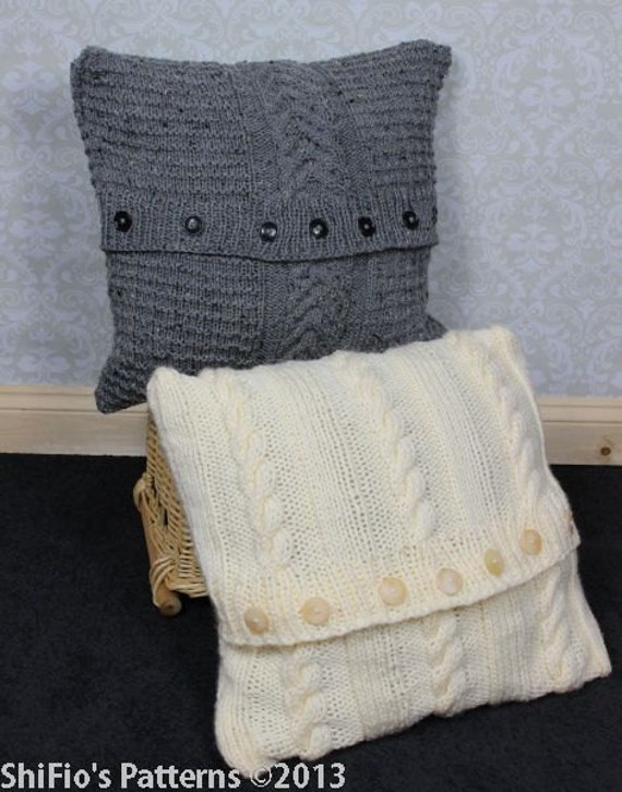 Knitting Patterns For 2 Chunky Cable Cushion Covers Pdf 268 Digital