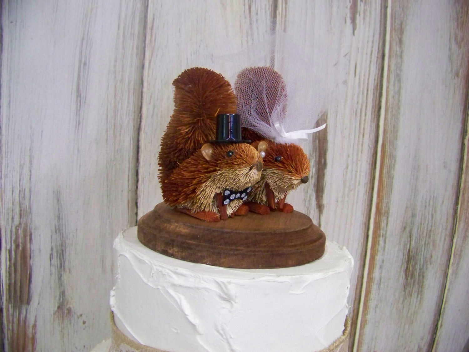 Wedding Cake Topper With Squirrels Squirrel By