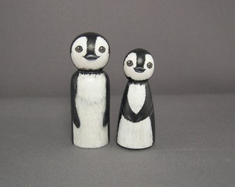 Penguin Peg Doll Cake Toppers