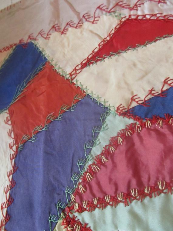 SALE Vintage 1920's Crazy Quilt Block Was 14.00 Now 11.99