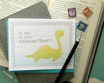 In Awe of Your AwesomeNess Letterpress Note Card