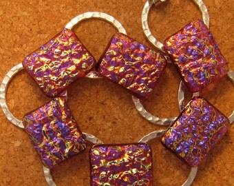 Dichroic Bracelet Fused Glass Bracelet Link Bracelet Dichroic Jewelry Fused Glass Jewelry