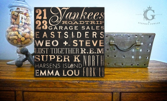 Custom Typography graphic word art on canvas 12 X 12 inches wedding anniversary birthday graduation gift