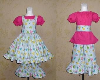 Dress Jumper, Girls Jumper With Dress Top, Toddler Outfit