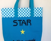 Star of the Week Tote-Blue