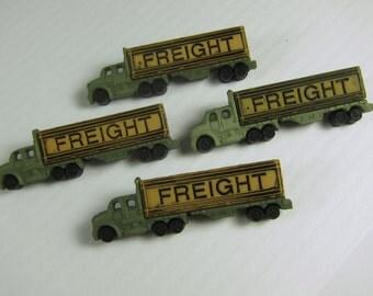 Freight Truck Novelty Buttons