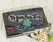 Polymer Clay Business Card Holder - Credit Card Case - Do Your Own Thing