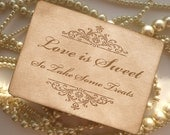 Wedding Sign - Love is Sweet - Candy Buffet Sign - matching items available