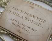 Candy Buffet Sign, Love is Sweet Sign, Wedding Favors, Gold Wedding Sign, Vintage Wedding Ideas, UK Wedding