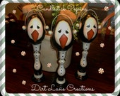 Candlestick Pengiuns ... One of a Kind Hand Painted Creation .. FAAP