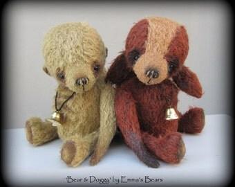 """Doggy - 9"""" mohair artist doggy bear by Emmas Bears"""