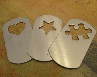 DOG TAG - Stainless Steel Stamping Blanks - 18g - QUANTITY 2 - perfect for bracelets, enameling