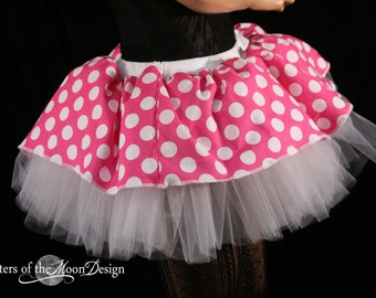 Adult tutu skirt minnie mouse dance costume halloween princess party dress up disney run pink white - You choose size -- Sisters of the Moon