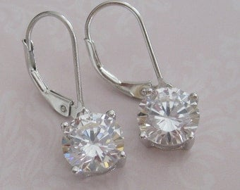 Bride - Bridesmaids - Cubic Zirconia earrings - Bridesmaids gifts - Bridal Jewelry - Bridal Accessories