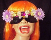 Decorated Vintage Flower Sunglasses by Jan Carlin One of a KInd LuLu of Hollywood