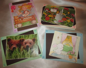 Set of 4 Everyday Repurposed Cards 4 Mother's Day, Birthday