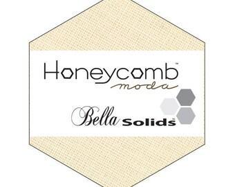 """SQ07 Moda Bella Solids Natural Honeycomb Precut 6"""" Hexagons Fabric Quilting 9900HC-12"""