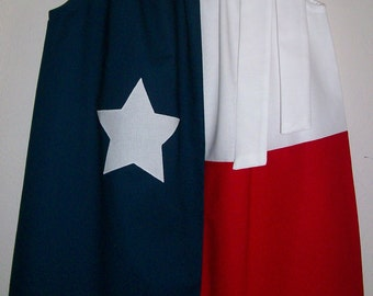 Pillowcase Dress Texas Flag Dress red white and navy Dress with Star baby dress toddler dress girls dress Texas Clothes