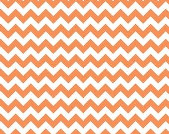 SALE Chevron Small Orange Stripe