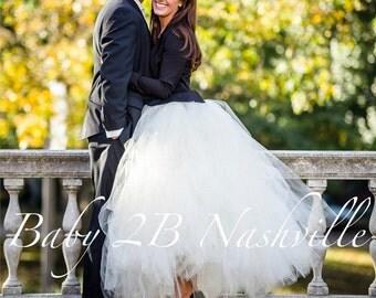 Wedding Skirt Wedding Tutu Bridal Skirt Wedding Dress Bridal Tutu Ivory Bridal Tulle Skirt Tutu Skirt Floor length Tutu Costume Tutu