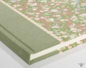 Sage Wedding Guest Book - Journal - Sage Cherry Blossom - Writing Journal, Diary, Notebook, Memorial Guest Book, Shower, Anniversary