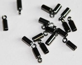 50 pcs of Gunmetal plated end cap with loop for 7.5x3mm