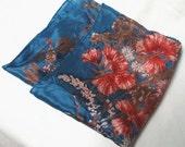 Beautiful Vintage Vera All Silk Scarf Flowers