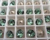 12 Erinite Foiled Swarovski Crystal Chaton Stone 1088 39ss 8mm