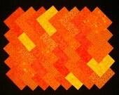 ORANGE 100% cotton Prewashed 4 inch Quilt Block Quilting Fabric Squares (#A/5B)