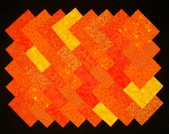 ORANGE 100% cotton Prewashed 4 inch Quilt Block Quilting Fabric Squares (#A/5B)