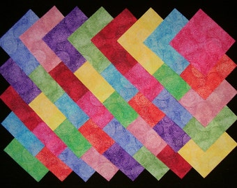 Bright Pizzazz 100% cotton Prewashed, 40  4 inch, Quilt Block Fabric Squares (#stk110B)