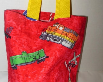 Trains Tote/Gift Bag