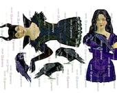 MALEFICENT PAPER DoLLs  Fairy 4 sheets instant Digital Download  Ballerina Papercrafts Scrapbooking Cardmaking