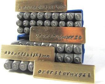 HandPrint 2mm Upper, Lower case steel alphabet stamps steel letters