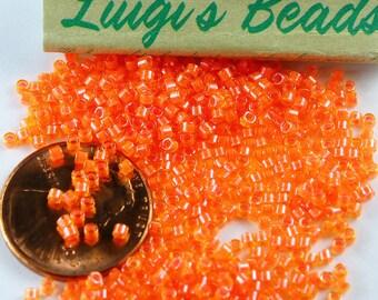11/0 Miyuki Delica Glass Seed Beads DB2047-Luminous Tangerine 5g