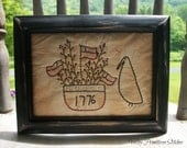 Patriotic Stitchery, 1776 Americana, USA, Flag, Crow, ATG2OFG