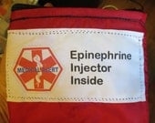 Insulated Auvi-Q ® ONLY with medical alert label weather proof zippered pouch case with options small size